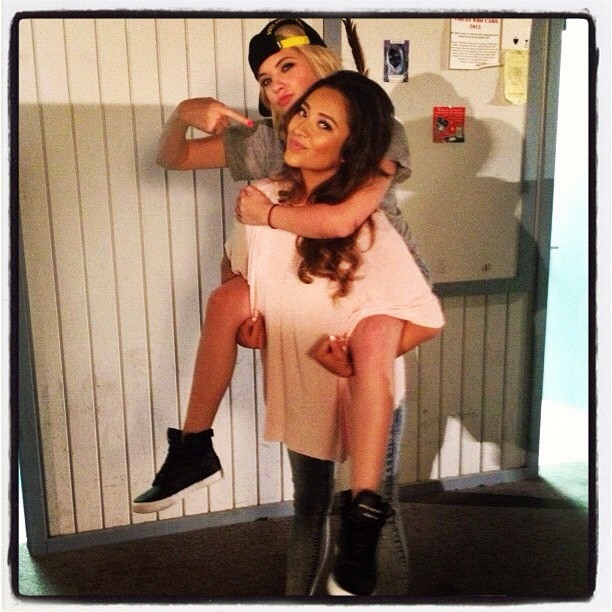 Ashley Benson got a lift from Shay Mitchell. Source: Instagram user itsashbenzo