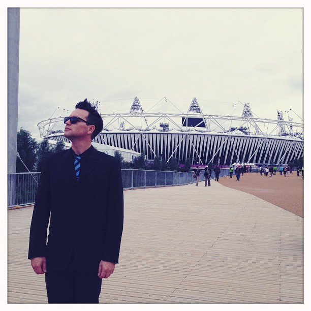 Mark Hoppus shared a photo from the Olympic Stadium. Source: Instagram user markhoppus