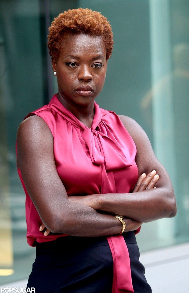 Viola Davis got into character on the NYC set.
