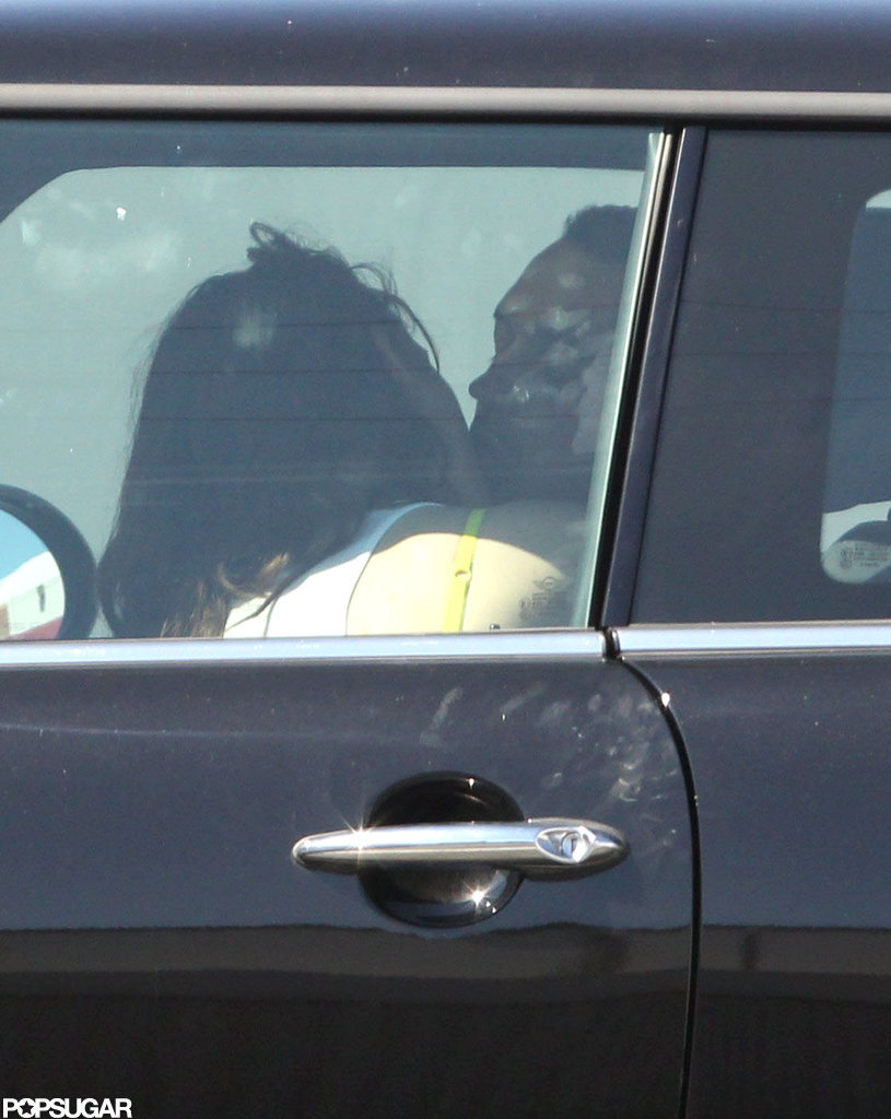 Kristen Stewart kissed Rupert Sanders on the side of the road.