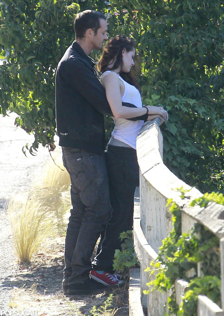 Kristen Stewart met up for PDA with Rupert Sanders.