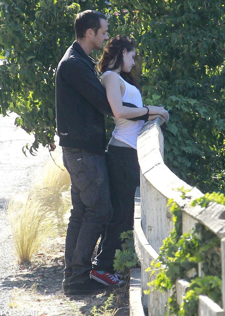 Kristen Stewart met up for PDA with Rupert Sanders.