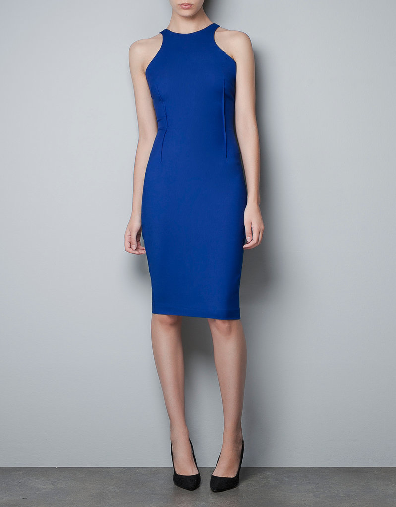 We'd wiggle into this body-con dress for a date night or drinks with the girls. Zara Racer Back Dress ($80)