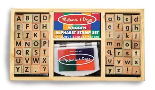 Melissa &amp; Doug Deluxe Alphabet Stamp Set ($16)