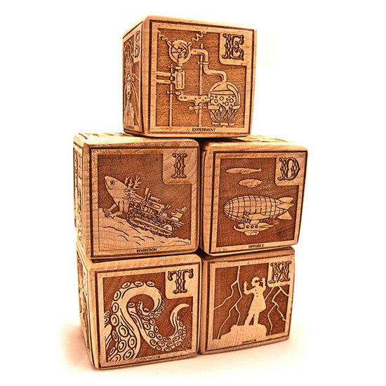 Xylocopa A Young Mad Scientist's First Alphabet Blocks ($35)