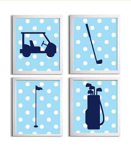 Nursery Golf Prints ($56)