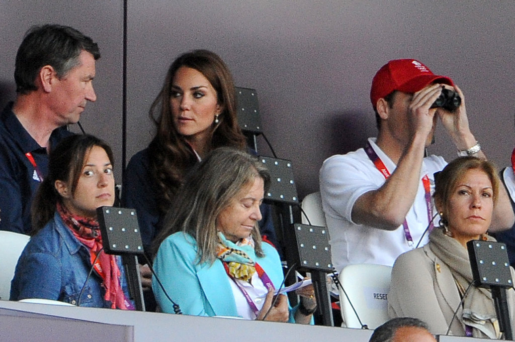 Prince William used his binoculars.
