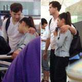 Ashton Kutcher and Mila Kunis Cuddle Up at the Airport
