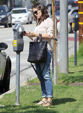 Jennifer Garner paid the meter in LA.