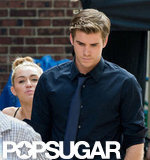 Miley Cyrus and Liam Hemsworth were together on set.
