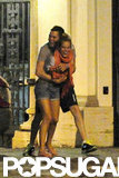 Michael Bublé hugged wife Luisana Lopilato as she laughed during their July stay in Rome.