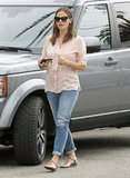 Jennifer Garner got out of her parked car in LA.