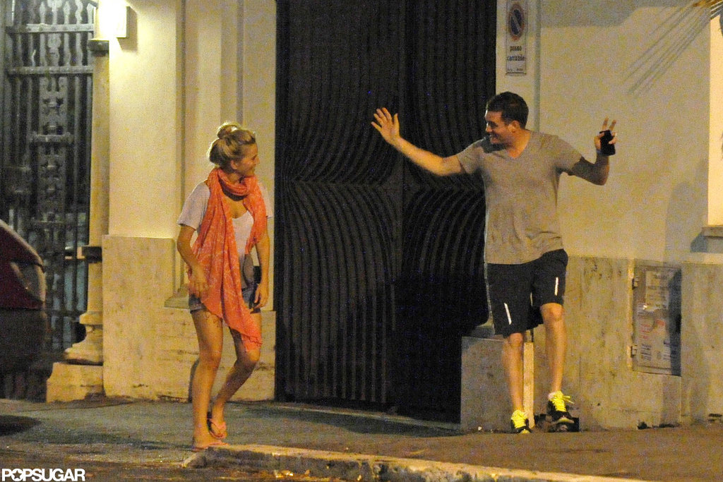 Michael Bublé and wife Luisana Lopilato had fun together during a stroll in Rome.