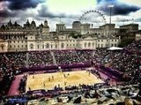 Kerri Walsh shared an awesome view of the beach volleyball court.  Source: Twitter user kerrileewalsh