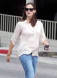 Jennifer Garner headed back to her car in LA.