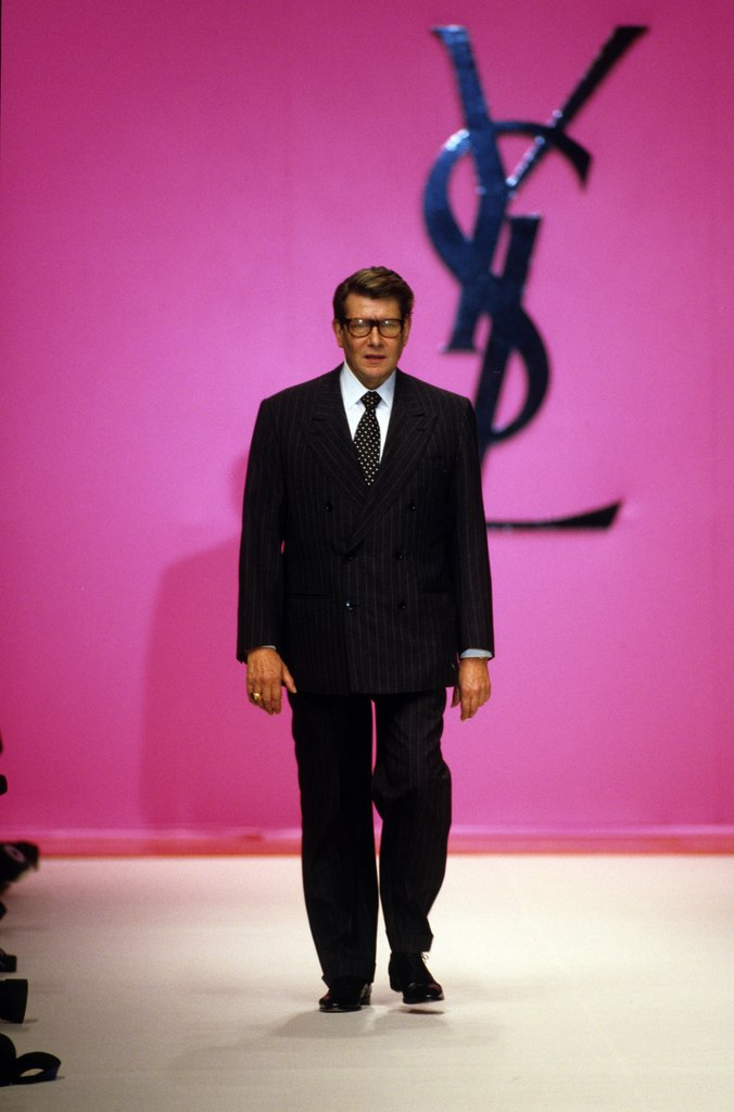 Taking his walk down the runway after his Spring '96 ready-to-wear show debuted.