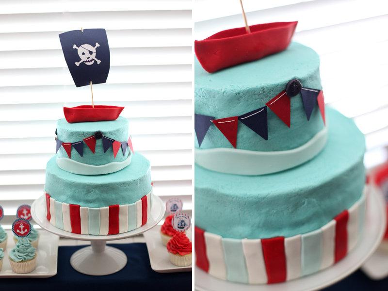 Nautical Pirate Cake