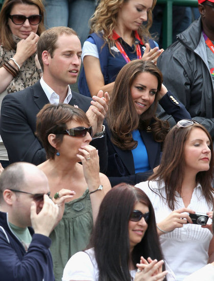 Kate Middleton wore a Stella McCartney blue frock.
