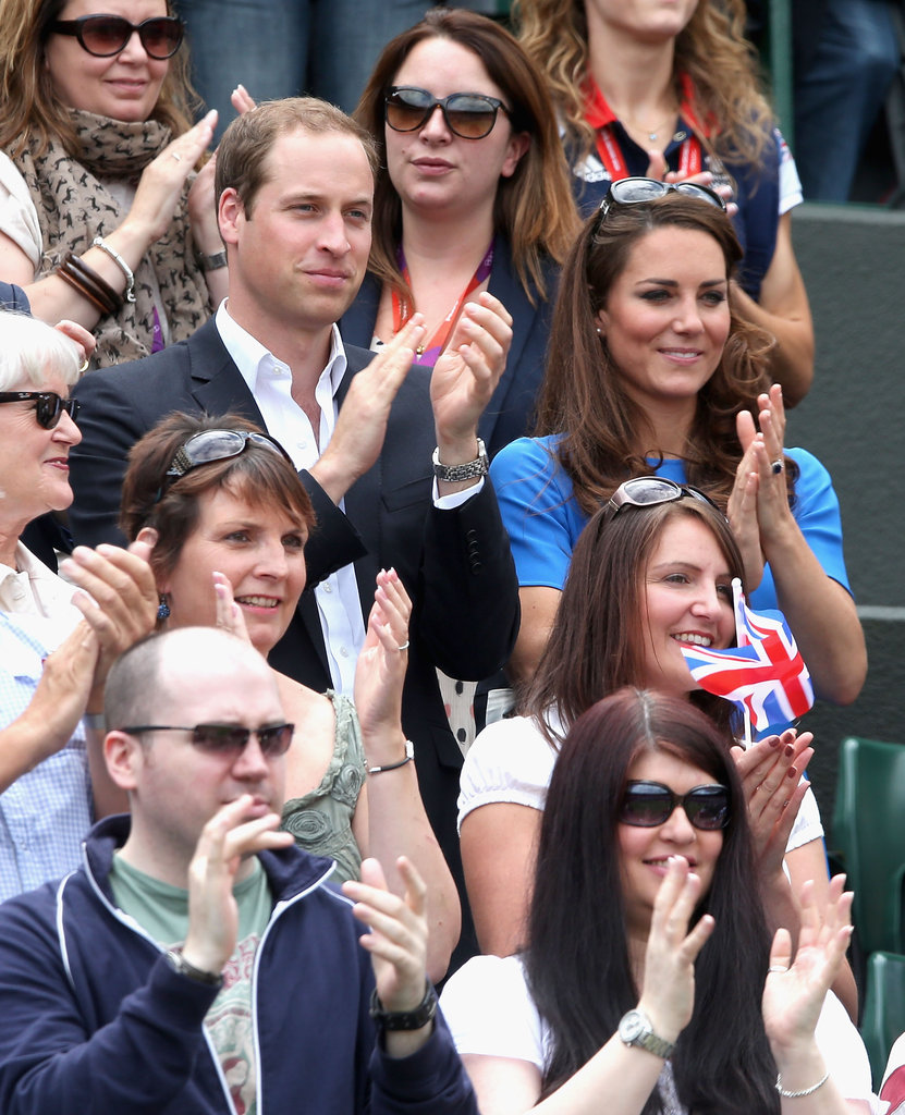 Prince William and Kate Middleton supported Andy Murray during the Quarterfinals tennis match.