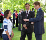 Prince Harry individually spoke to the winners of the First National Finals of the School Games.