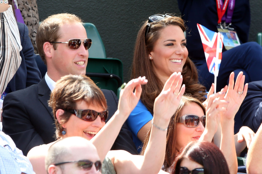 The duke and duchess of Cambridge were all smiles throughout the Quarterfinal of the Men's Singles Tennis match.