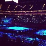 Shawn Johnson snapped a photo from inside the women's all-around gymnastics final.  Source: Instagram user shawnjohnson