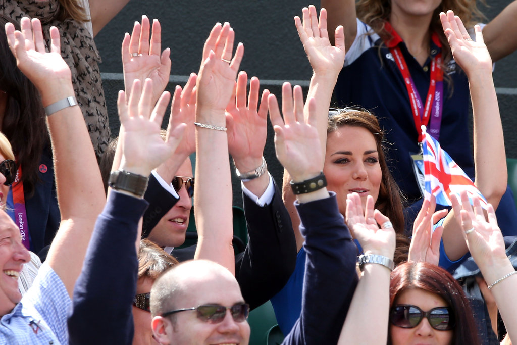 Prince William and Kate Middleton did the wave.