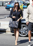 Jennifer Garner carried a cute black bag.