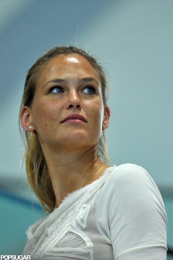 Bar Refaeli Watches Nathan Adrian Take Home Gold
