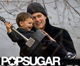 Tom Brady enjoyed a November 2001 afternoon at a park in Boston with his youngest son, Benjamin.