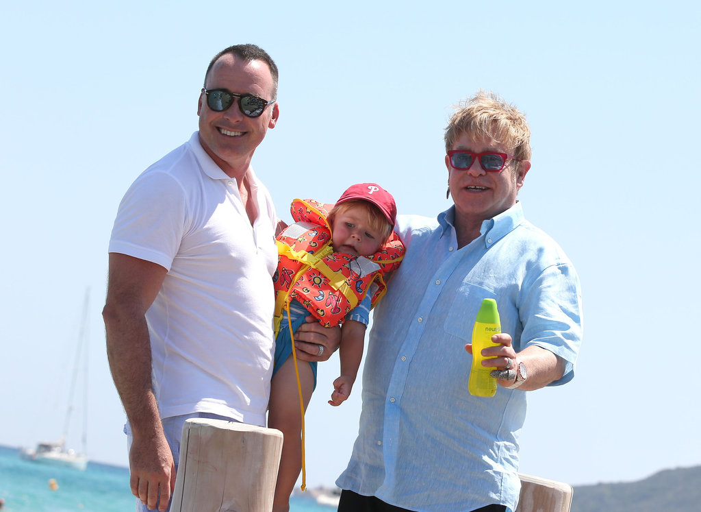 Elton John and David Furnish vacationed with Zachary Furnish-John.