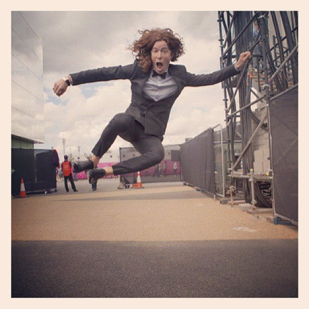 Shaun White caught some air outside an Olympic event.  Source: Instagram user todayshow