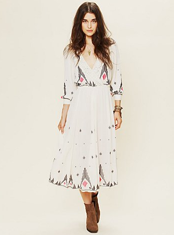 The longer sleeves on this sweet lace-embellished maxi will protect your arms from too much sun exposure and, conversely, flash thunderstorms. FP New Romantics Splendor in the Grass Embroidered Dress ($228)