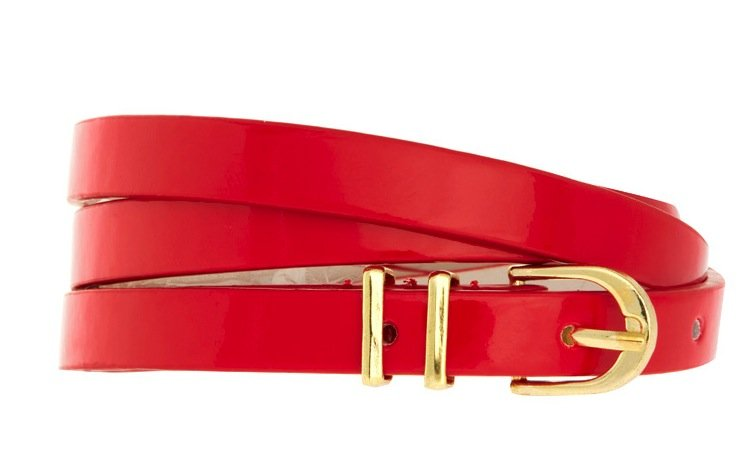 Every style setter needs a red statement belt — this skinny version lets you wear it with everything from your cocktail-ready LBD to your work-appropriate pants. If you're feeling extra daring, try it with a polka-dotted cigarette jean for a maximum retro feel. ASOS Metal Keeper Super Skinny Waist Belt ($10)
