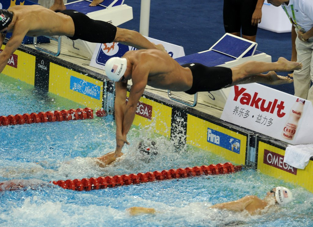 Ryan dove into the pool during 2011's FINA World Championships.