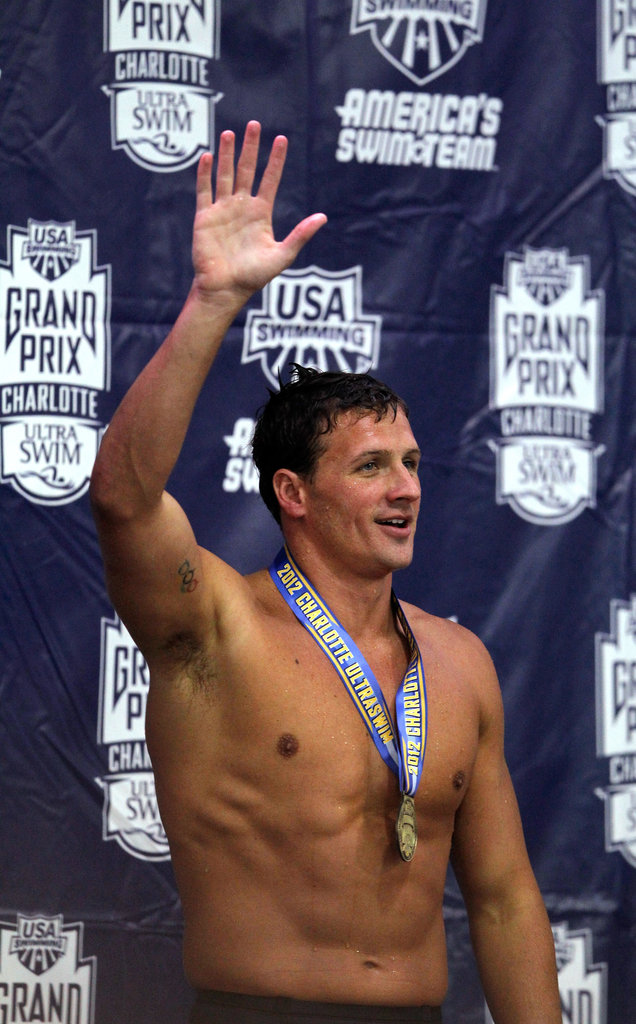 Ryan waved after winning at the 2012 Charlotte UltraSwim Grand Prix.