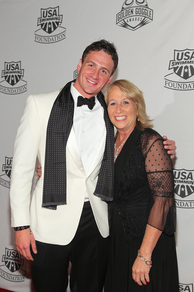 Ryan posed with his mom at the 2011 Golden Goggles.