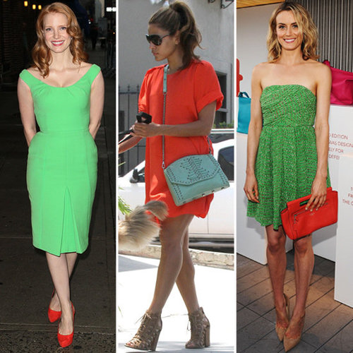 Summer Color Combinations (Celebrity Pictures and Shopping)