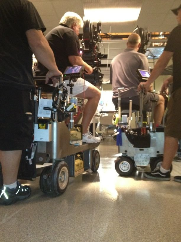 Patrick Dempsey went behind the scenes as the cameras rolled on the set of Grey's Anatomy. Source: Twitter user PatrickDempsey