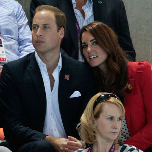 Kate Middleton and Prince William Watching Swimming Finals at 2012 London Olympics