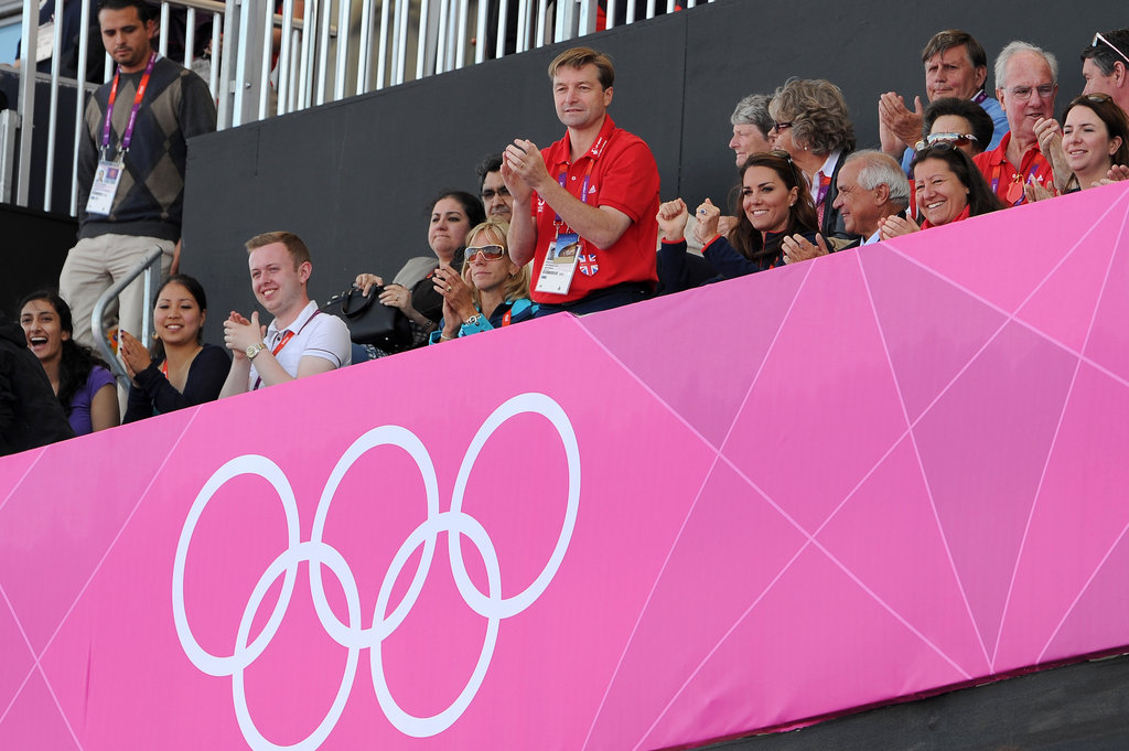 Kate Middleton cheered on the men's team.