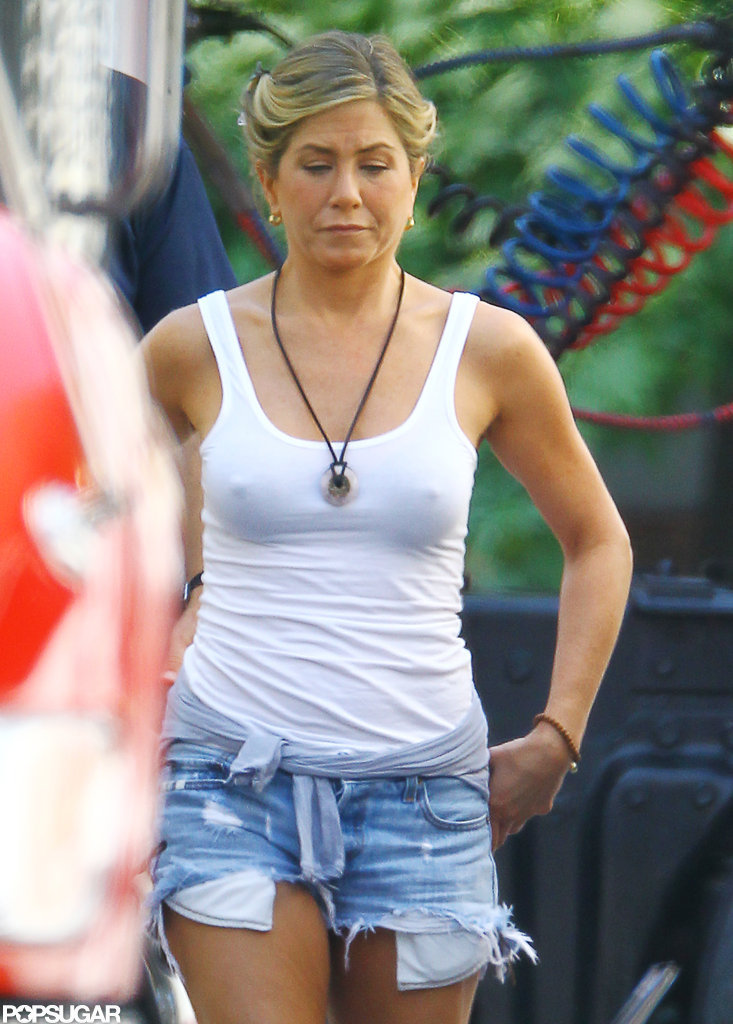 Jennifer Aniston arrived to the set of We're the Millers.