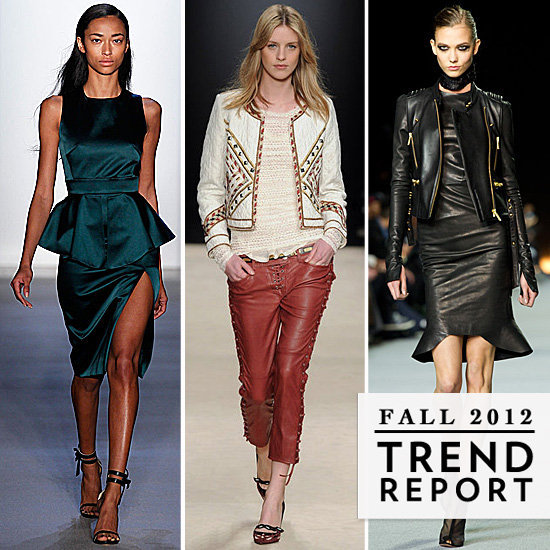 Ladylike peplum, statement furs, slick leather, and more — it's all in our ultimate Fall 2012 trend report.