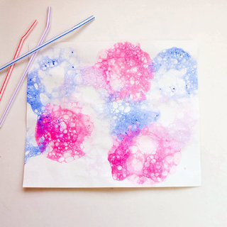 Bubble Paint Craft For Kids