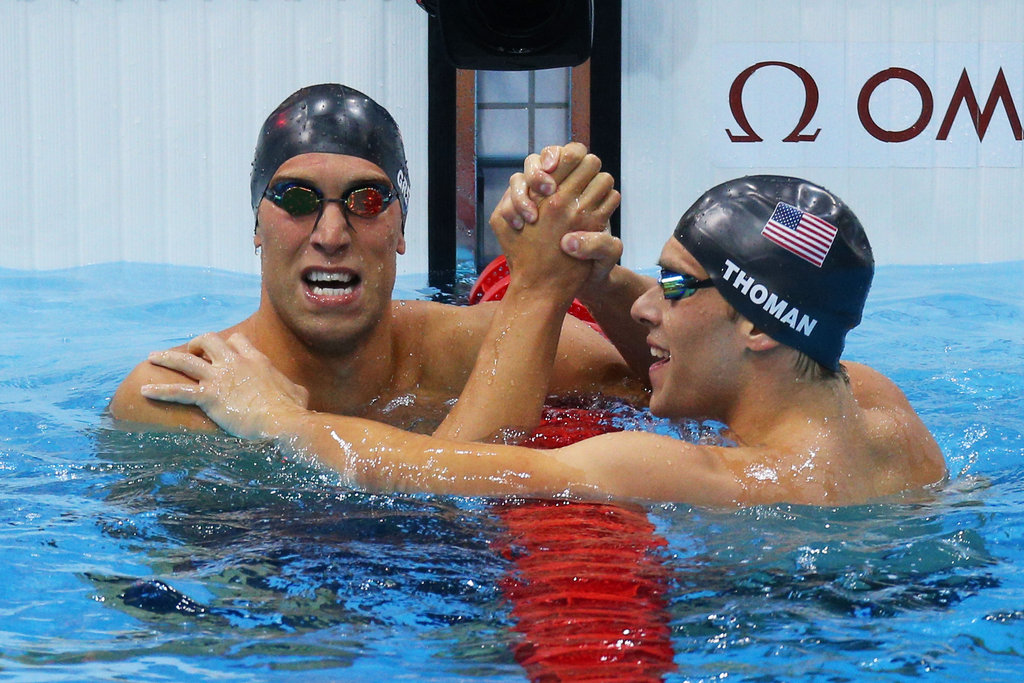 Matt Grevers and Nick Thoman really gave Team USA something to cheer about with their 1-2 finish in the 100m backstroke.