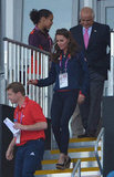 Kate made her way in to watch Great Britain take on Pakistan on day seven.