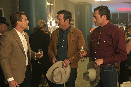Taylor Handley, Dennis Quaid, and Jason O'Mara star in Vegas.