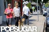 Lauren Conrad walked her dog in LA.