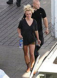 Britney Spears walked to her car after an Elizabeth Arden photo shoot in LA.