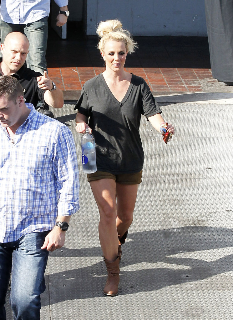 Britney Spears made her way to her car wearing cowboy boots in LA.